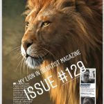 "My ""Lion"" image in  3D Artist Magazine issue #129"